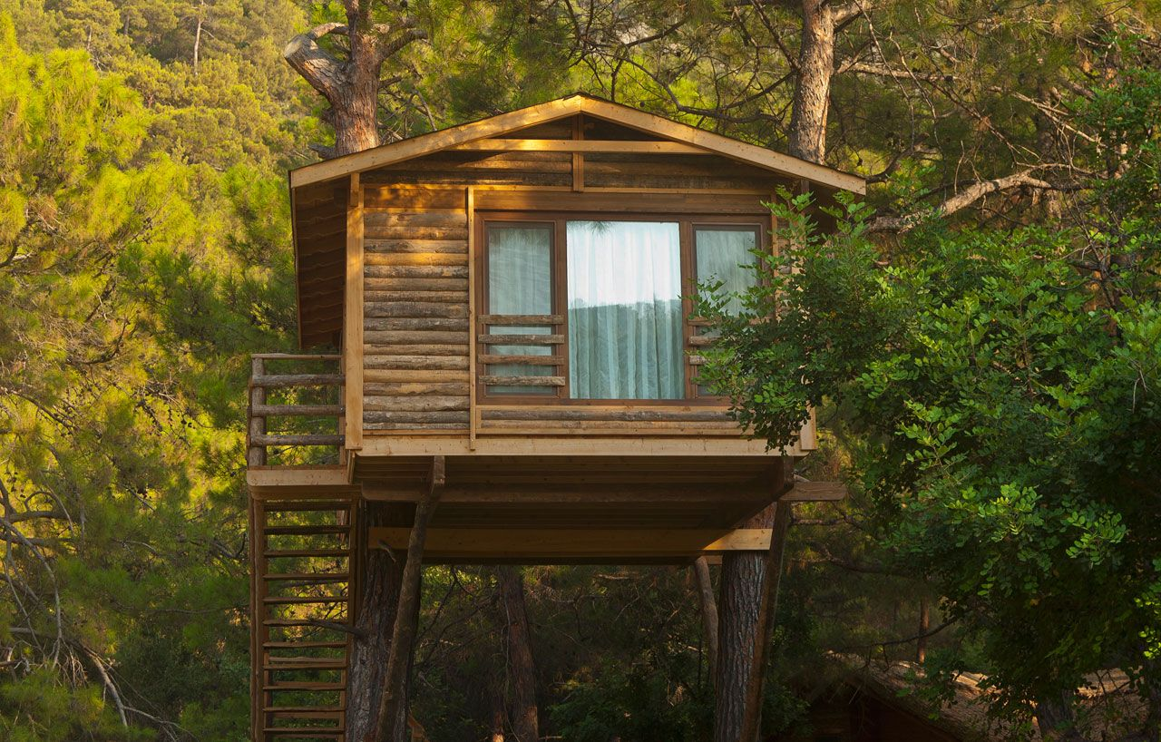 Amazing tree homes for the ultimate office space or whimsical hangout #design #LiveLoveLux #TreeHouse