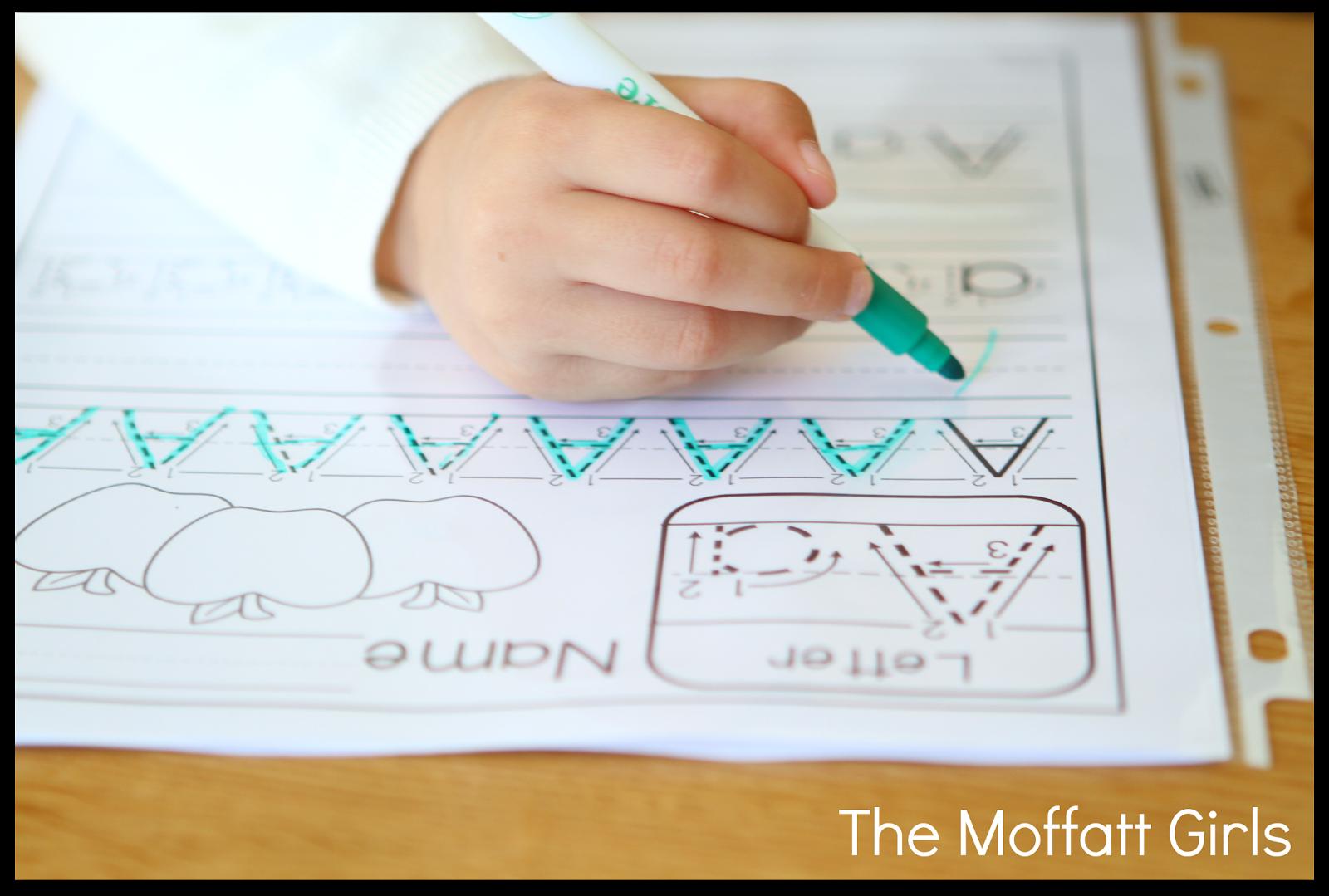 The Moffatt Girls Freebie A Z Handwriting Practice Pages
