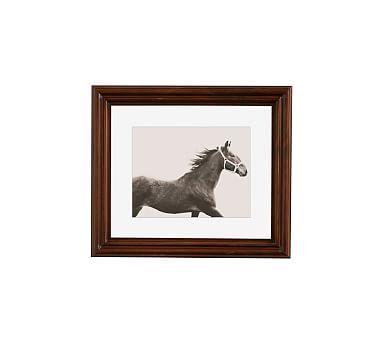"Vintage Horse by Jennifer Meyers, 13 x 11"", Ridged Distressed, Espresso, Mat"