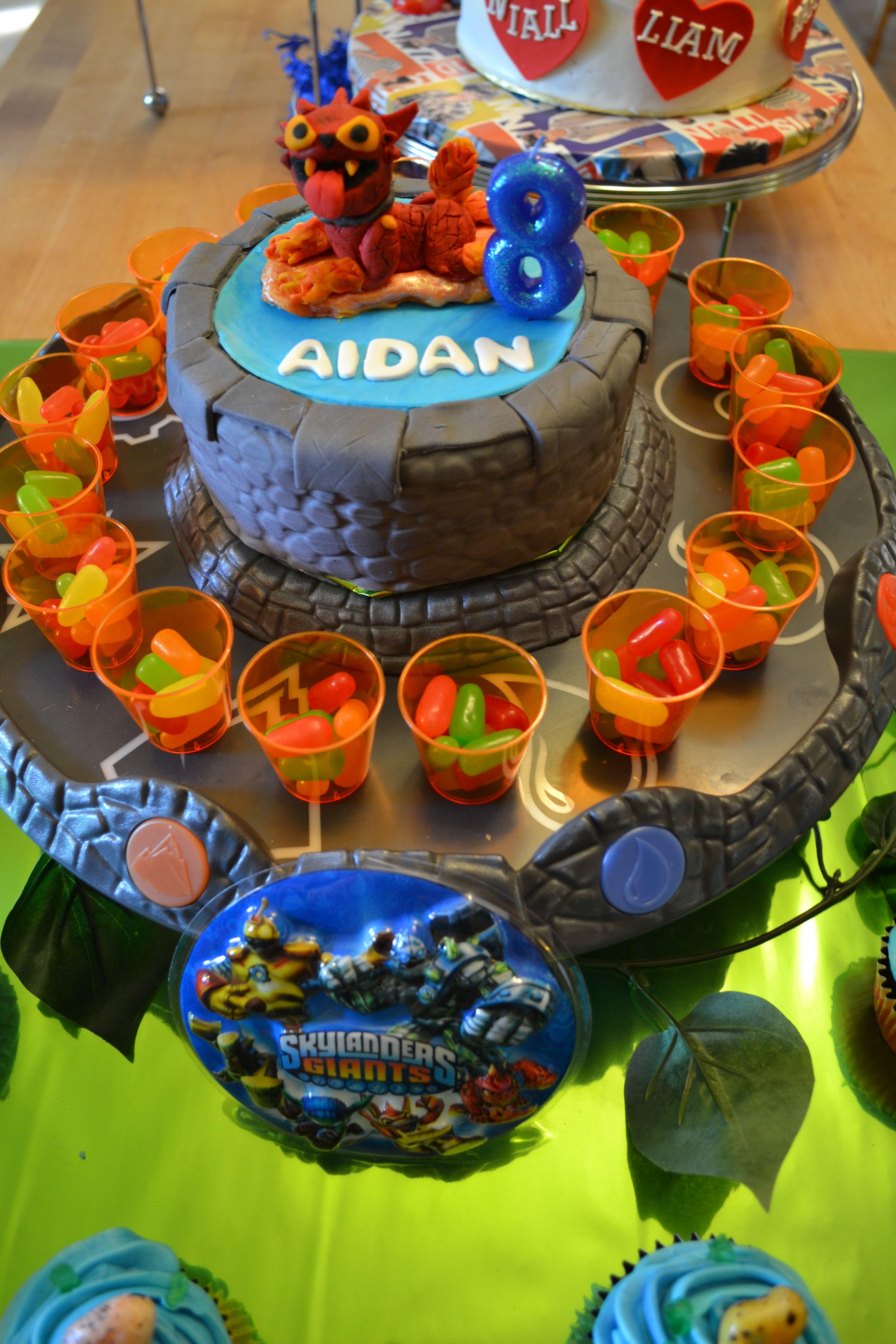 Skylanders Birthday Cake Portal With Hotdog