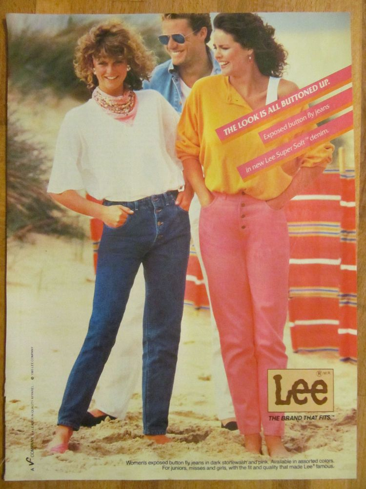 Lee Jeans, Full Page Vintage Ad