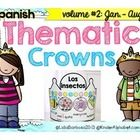 Volume#2 for spring and summer: Adorable thematic crowns in English to increase vocabulary skills, create math patterns, identify the letters in wo...
