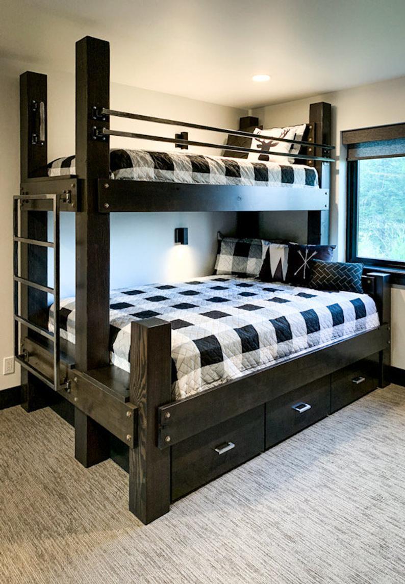 The Twin Xl Over Queen Big Sky Bunk Bed Loft Bed Bunk Bed Etsy Custom Bunk Beds Queen Bunk Beds Bunk Beds Built In Twin xl loft bed frame