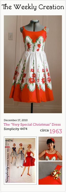 "Favourite dress EVER - The ""A Very Special Christmas"" Dress - Mena Trott - http://www.sewweekly.com/2010/12/the-a-very-special-christmas-dress/"