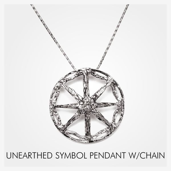 Unearthed Symbol Pendant 26 Mm 102 Inches 18k With 4572