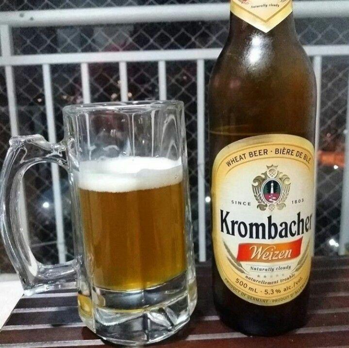 Pra quem gosta de weiss, a Krombacher não decepciona nada.  #ficaadica