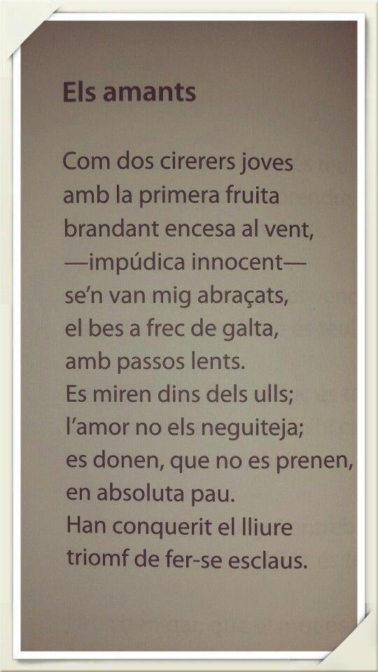 Joana Raspall Amor Poesía Poesía Escrito Literatura