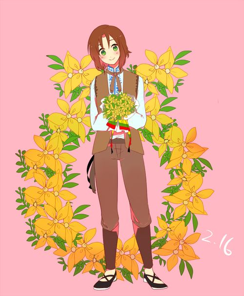 Lithuania with his national flower rue:) | Hetalia ...