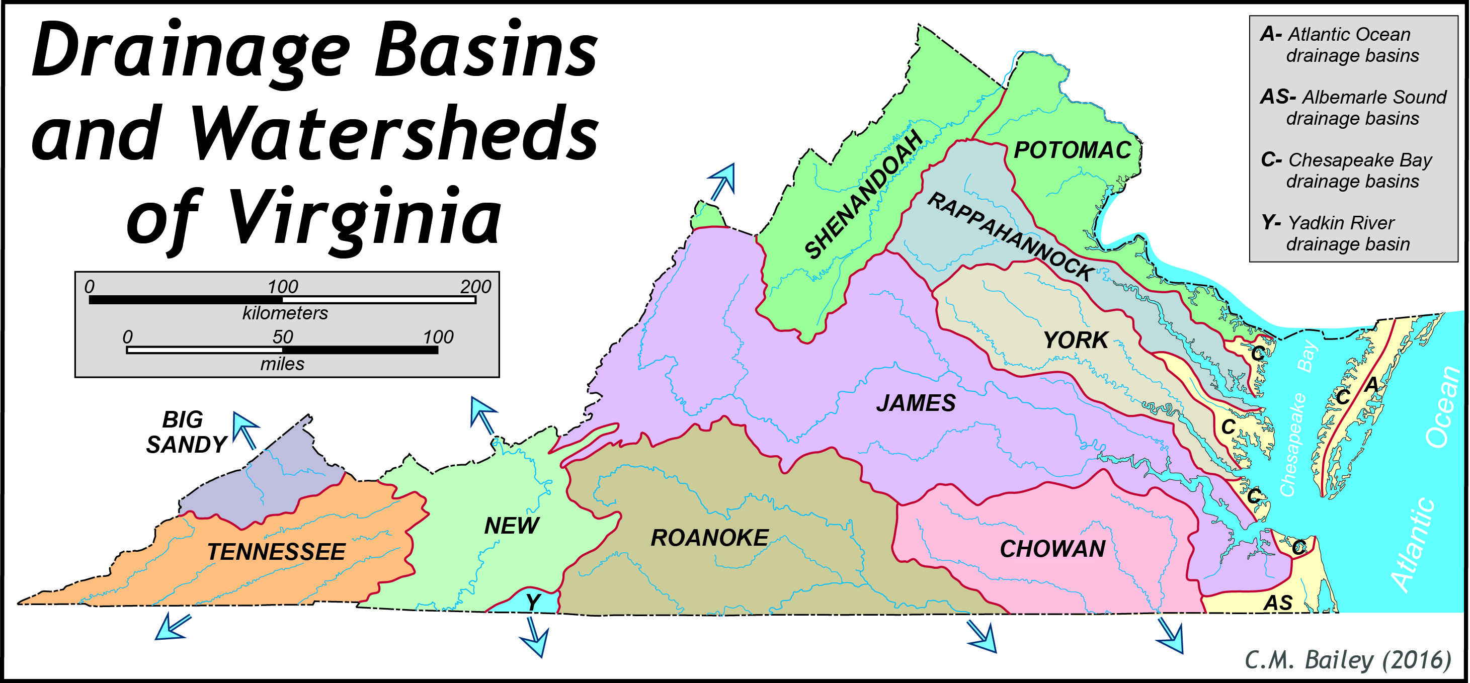 Image Result For Virginia Watersheds