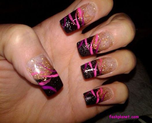 Black Acrylic Nail Designs Httpfashplanet20130421acrylic