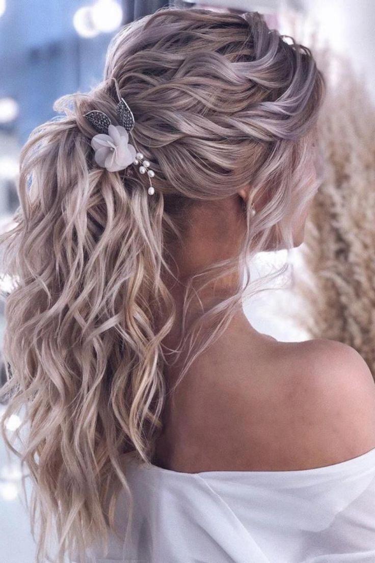 wedding hair with fringe #wedding #hair #weddinghair ...