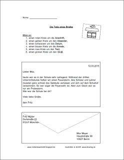 arbeitsbl tter zum thema brief materialwerkstatt deutsch brief schreiben grundschule. Black Bedroom Furniture Sets. Home Design Ideas