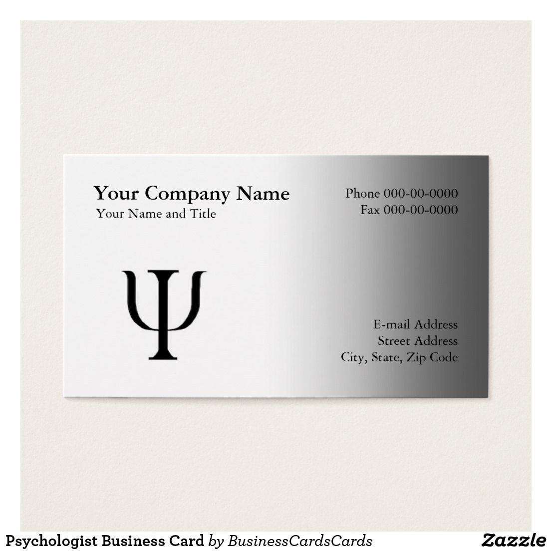 Psychologist Appointment Business Card | Psychologist / Psychiatrist ...