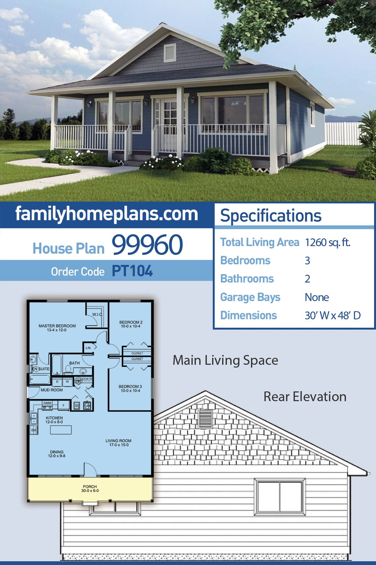 Ranch Style House Plan 99960 with 3 Bed, 2 Bath | Family ... on bathroom remodeling from 1980s, bathroom modern country designs, bathroom shower ideas, bathroom remodeling ideas for ranch style home,