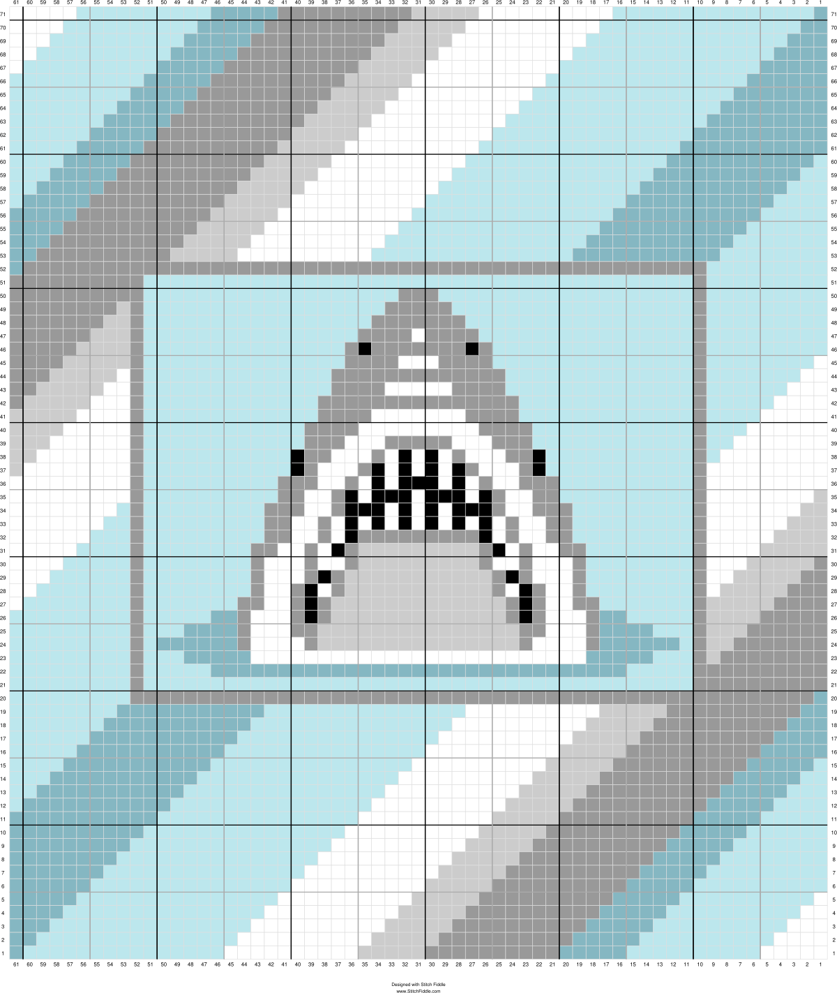 C2c Shark Afghan Graphs 2 Pinterest Crochet C2c And C2c Crochet