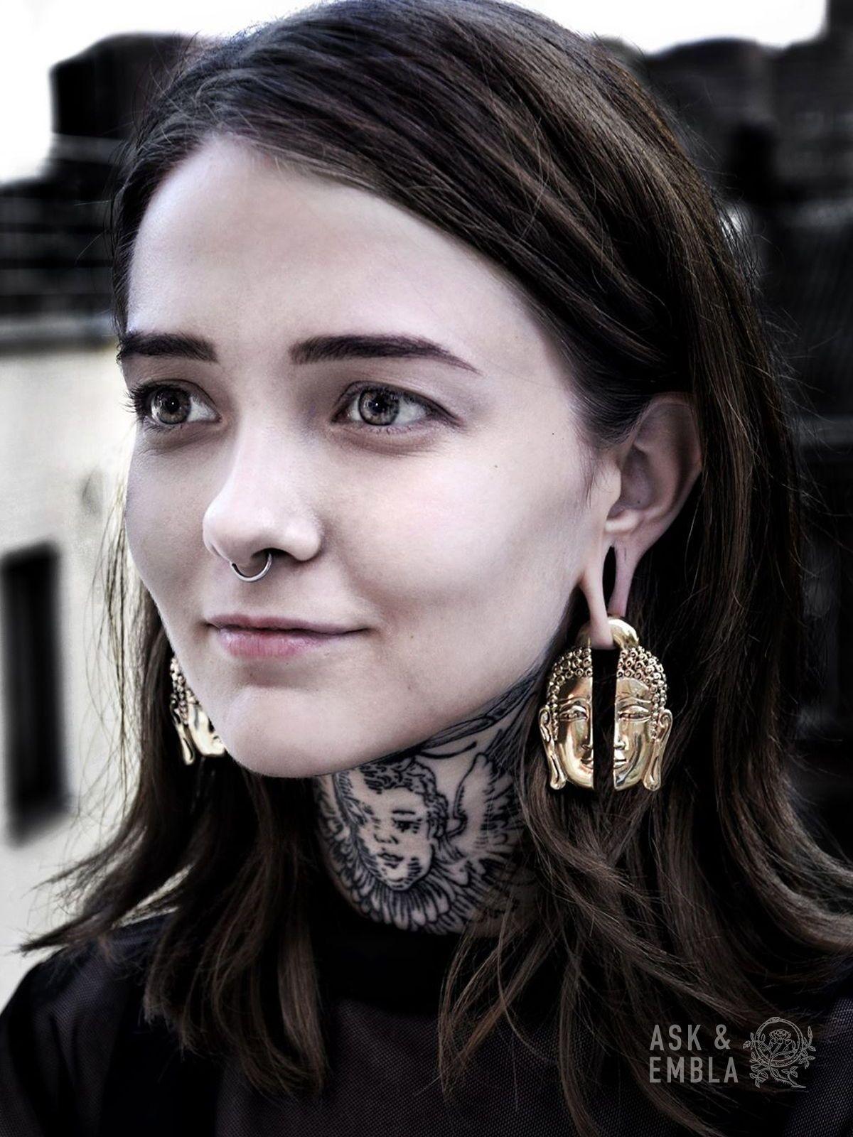 Nose piercing through both nostrils  Siddhartha Brass Hanger PAIR  Ask u Embla Tribe  Pinterest