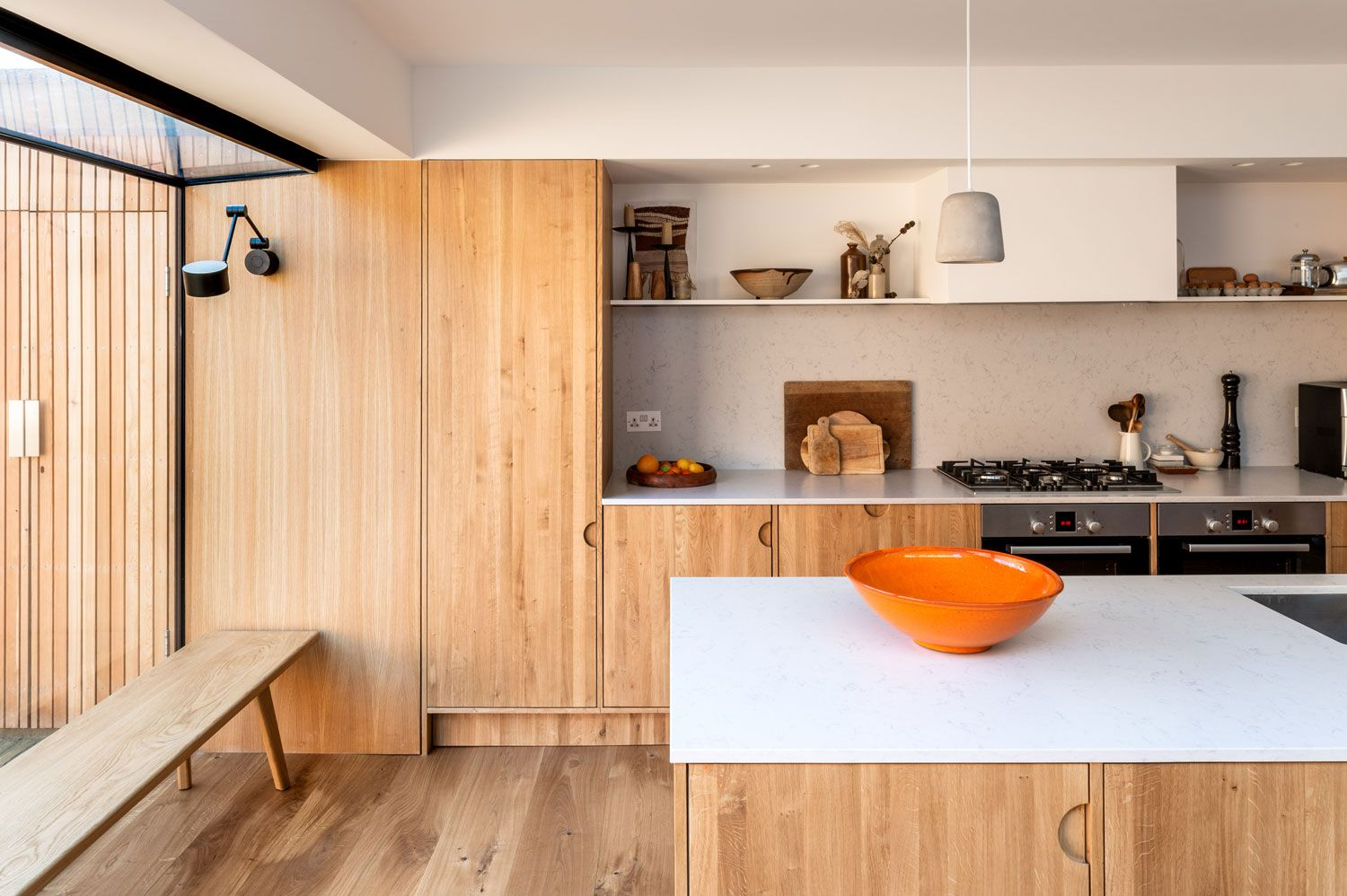 This Is The Favourite Nice Combo Of Warm Wood And White Work Surface Solid Wood Kitchen Cabinets Solid Wood Kitchens Wood Kitchen Cabinets