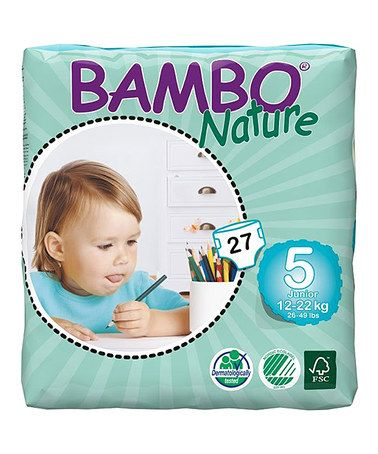 Best diapers around!! Hands down!! White Size Five Premium Diaper - Set of 27 by Bambo Nature #zulily #zulilyfinds