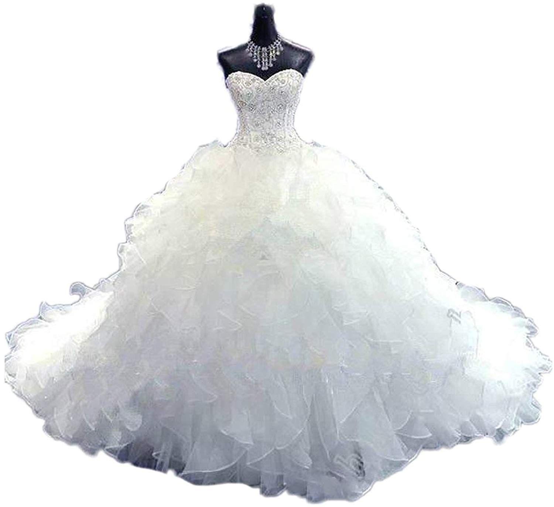 CoCogirls Luxus Wulstig Brautkleid Prinzessin-Kleid Hochzeitskleid