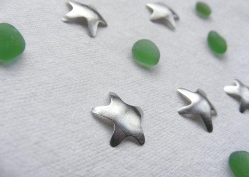 Green sea glass Christmas stars