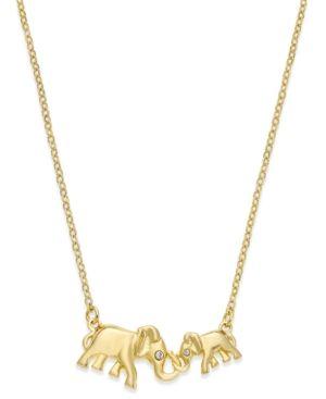 Kate spade new york 12k gold plated crystal double elephant pendant kate spade new york 12k gold plated crystal double elephant pendant necklace gold aloadofball Choice Image