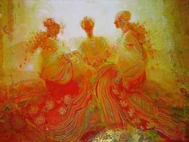 """Saatchi Online Artist Yulia Luchkina; Painting, """"Guests. Detail. """" #art"""