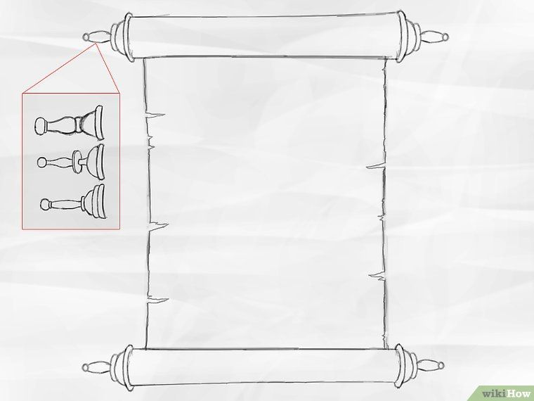 How To Draw A Scroll 6 Steps With Pictures Sunday School Crafts Draw Scroll
