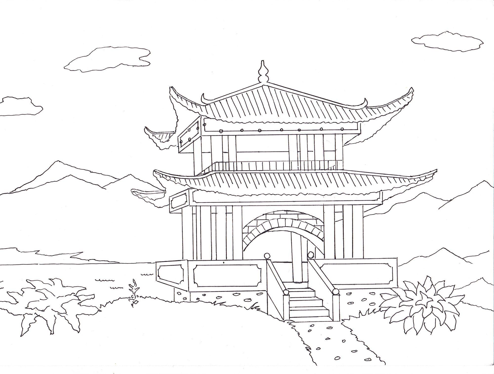 япония картинки рисунки карандашом купить замечательную