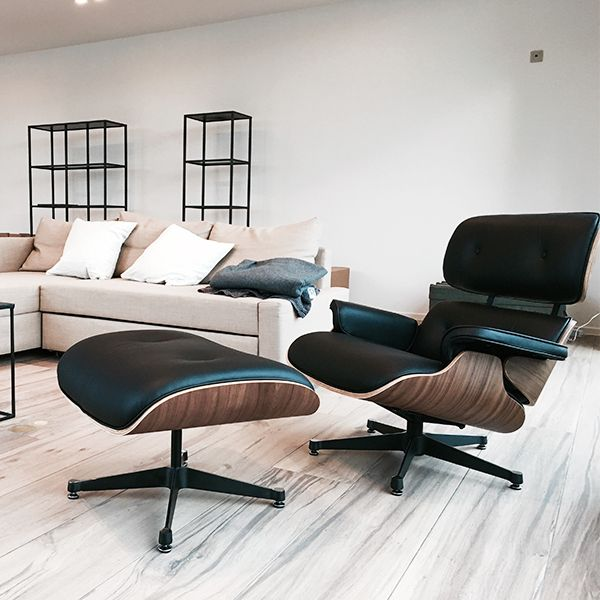 Perfekt Black Eames Lounge Chair