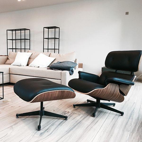 Black Eames Lounge Chair Wohnen Lounge Sessel Vitra Mobel