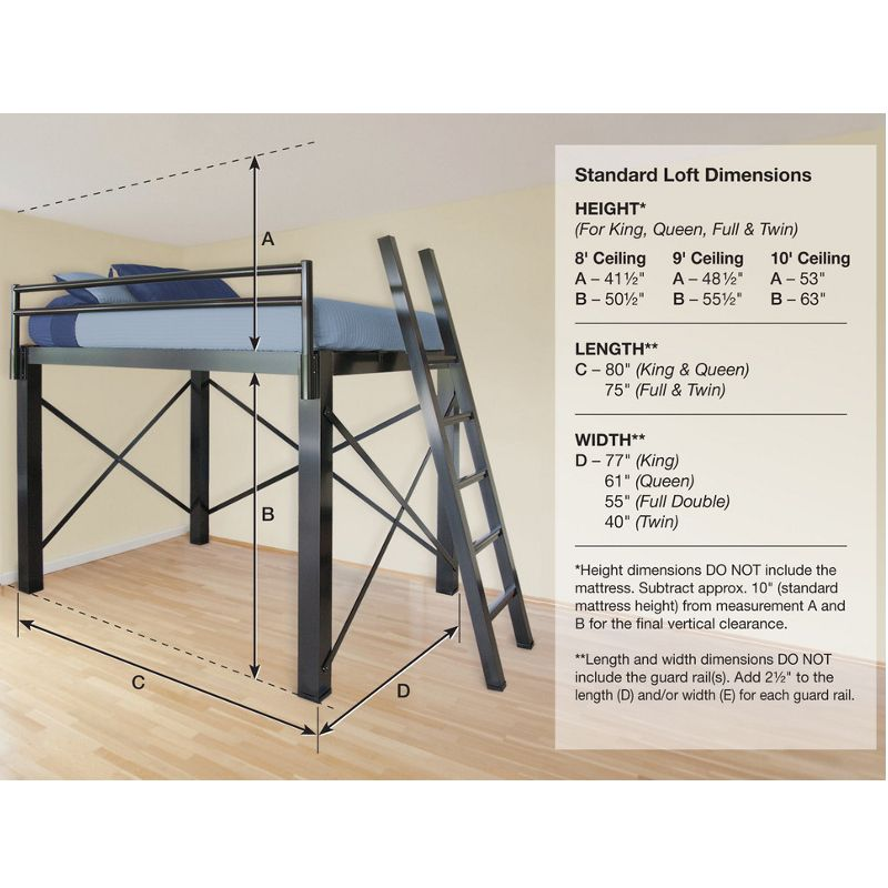 Francis Lofts Rpf Aluminum Loft Bed For Students Living In Dorm