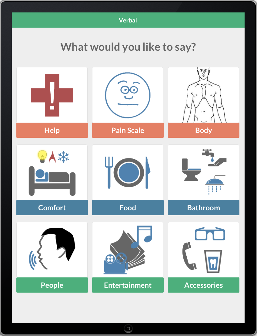 "Verbal Patient Care Solution. (app for iPad) ""We promise"