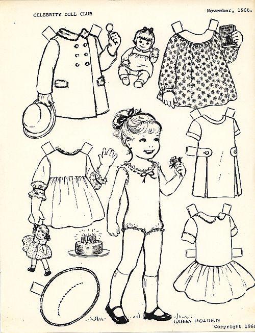 Queen Holden Girl To Color 1968 Paper Dolls Iii Pinterest