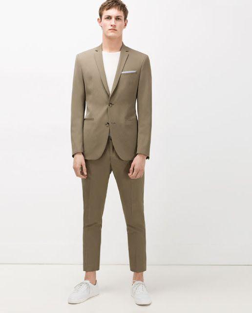 plus récent 6f6b0 b9911 Cultures Hommes: Zara Costume Kaki | Blazer | Khaki suits ...