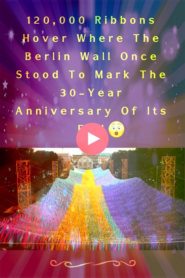 Ribbons Hover Where The Berlin Wall Once Stood To Mark The 30Year Anniversary Of Its Fall 120000 Ribbons Hover Where The Berlin Wall Once Stood To Mark The 30Year Anniver...
