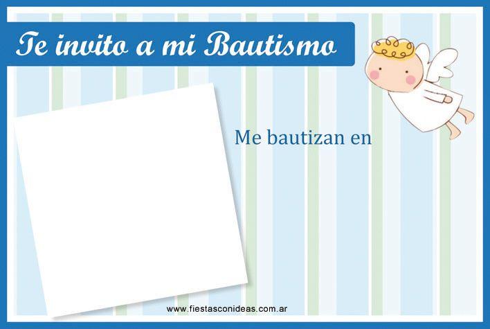 Tarjeta de bautismo de varón para imprimir gratis - Fiestas - plantillas para invitaciones gratis