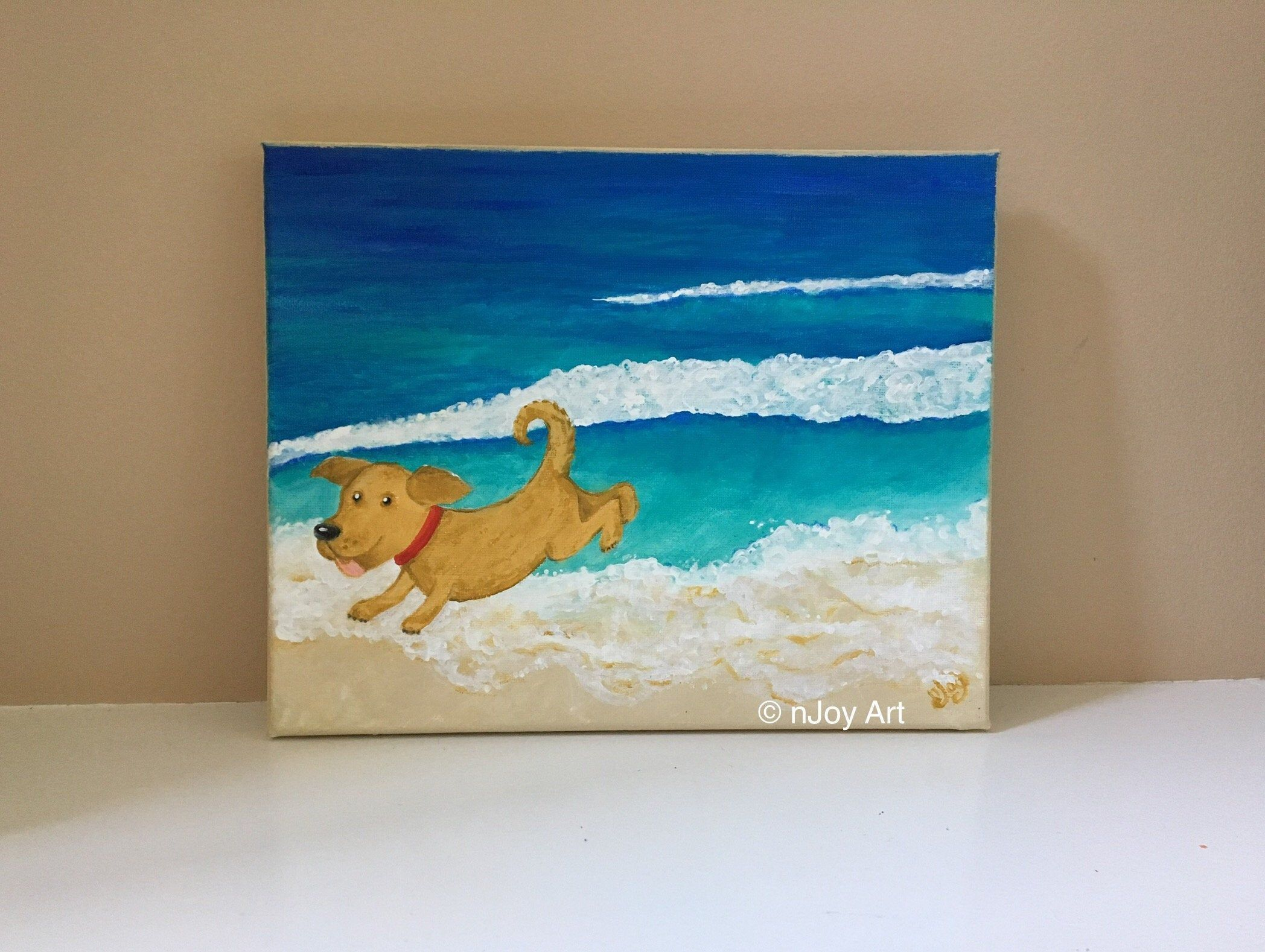 Original Seaside Landscape Painting | Beach Oil Painting