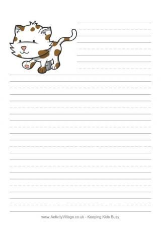 animal border lined paper
