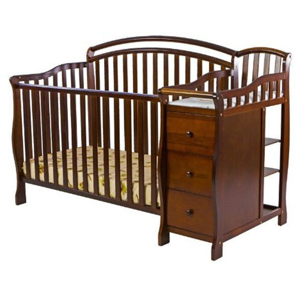 Dream on Me Hailee 4 in 1 Crib and Dressing Table Combo, Espresso