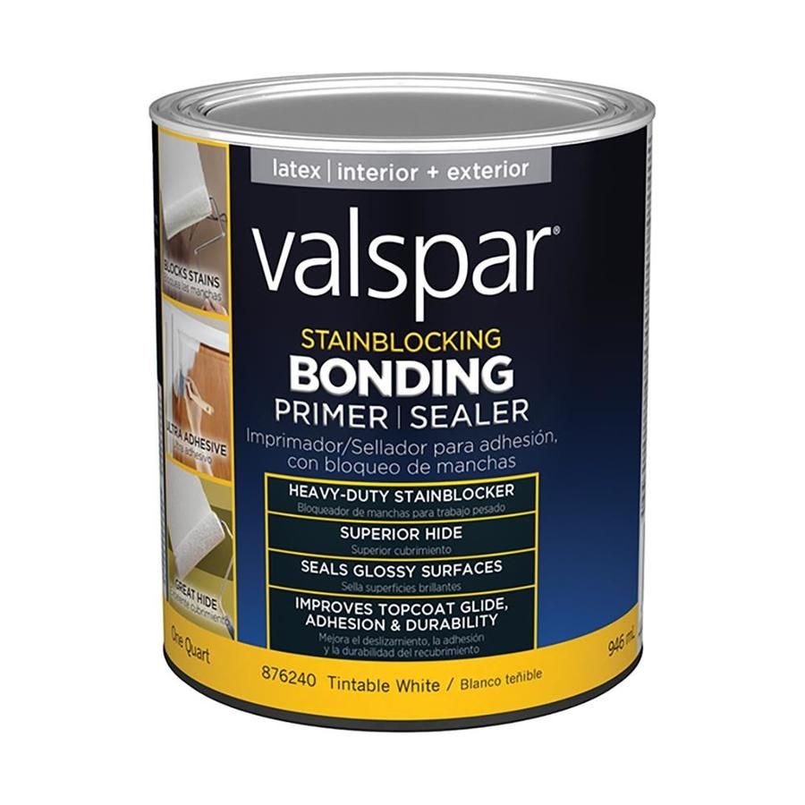 Valspar Interior Exterior Bonding Water Based Wall And Ceiling Primer Actual Net Contents 32 Fl Oz At Lowes Com Valspar Stained Blocks Chalk Paint
