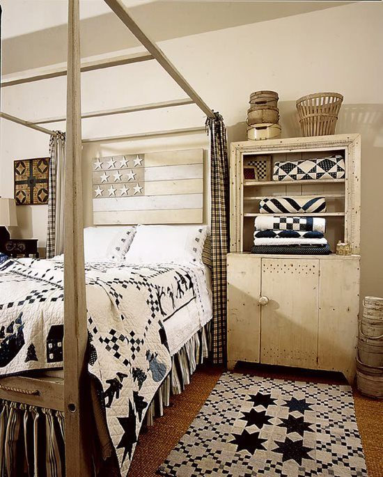 Indigo Blue And White Antique Quilts!
