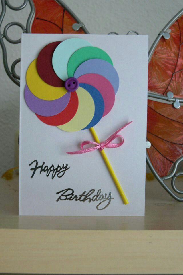 Легкая открытка с днем рождения для бабули