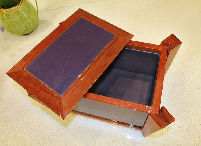 Decorative Keepsake Box Decorative Keepsake Box Made Of Solid Wood With A Leather Inlay