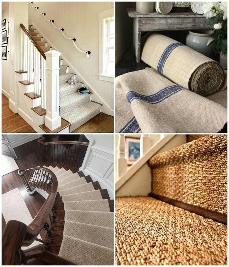 Tapis Pour Escalier Idees Pour Redonner Vie Aux Marches Fatiguees Tapis Escalier Revetement Escalier Escalier