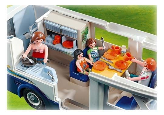 playmobil grand camping car familial 4859 am nagement int rieur complet playmobile. Black Bedroom Furniture Sets. Home Design Ideas