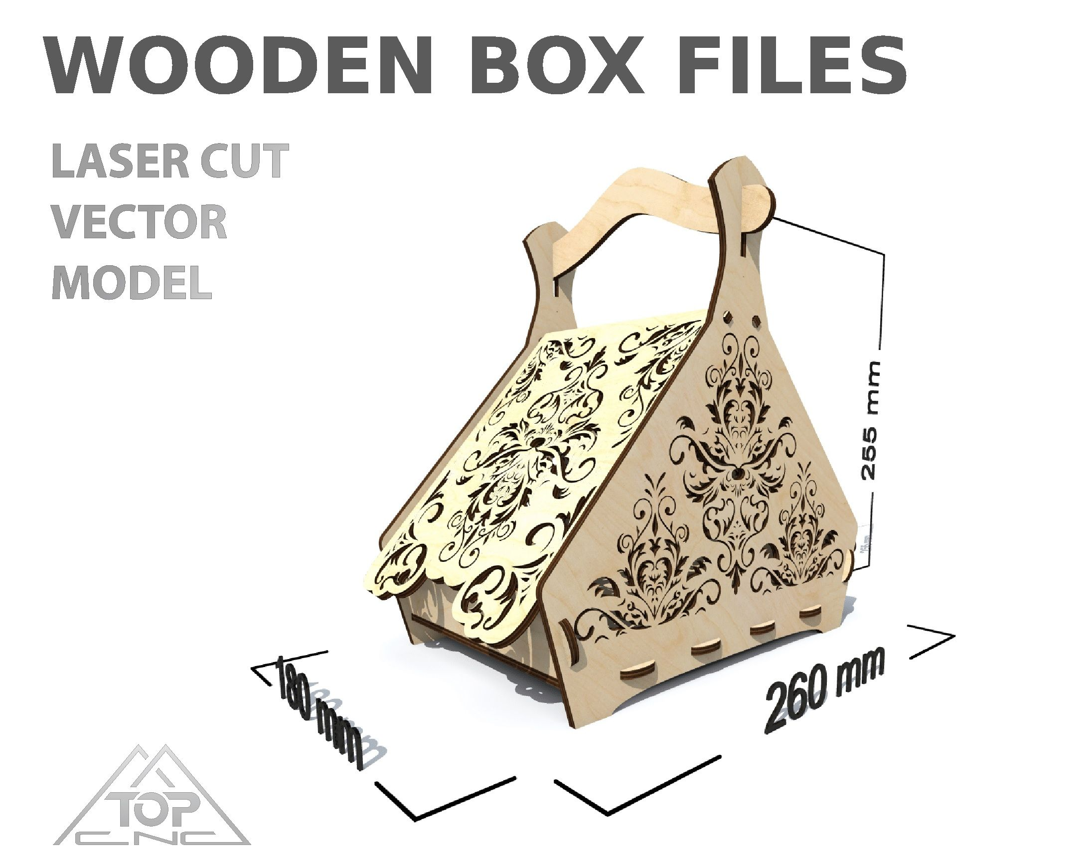 Пин на доске TOPCNC laser cut vector model