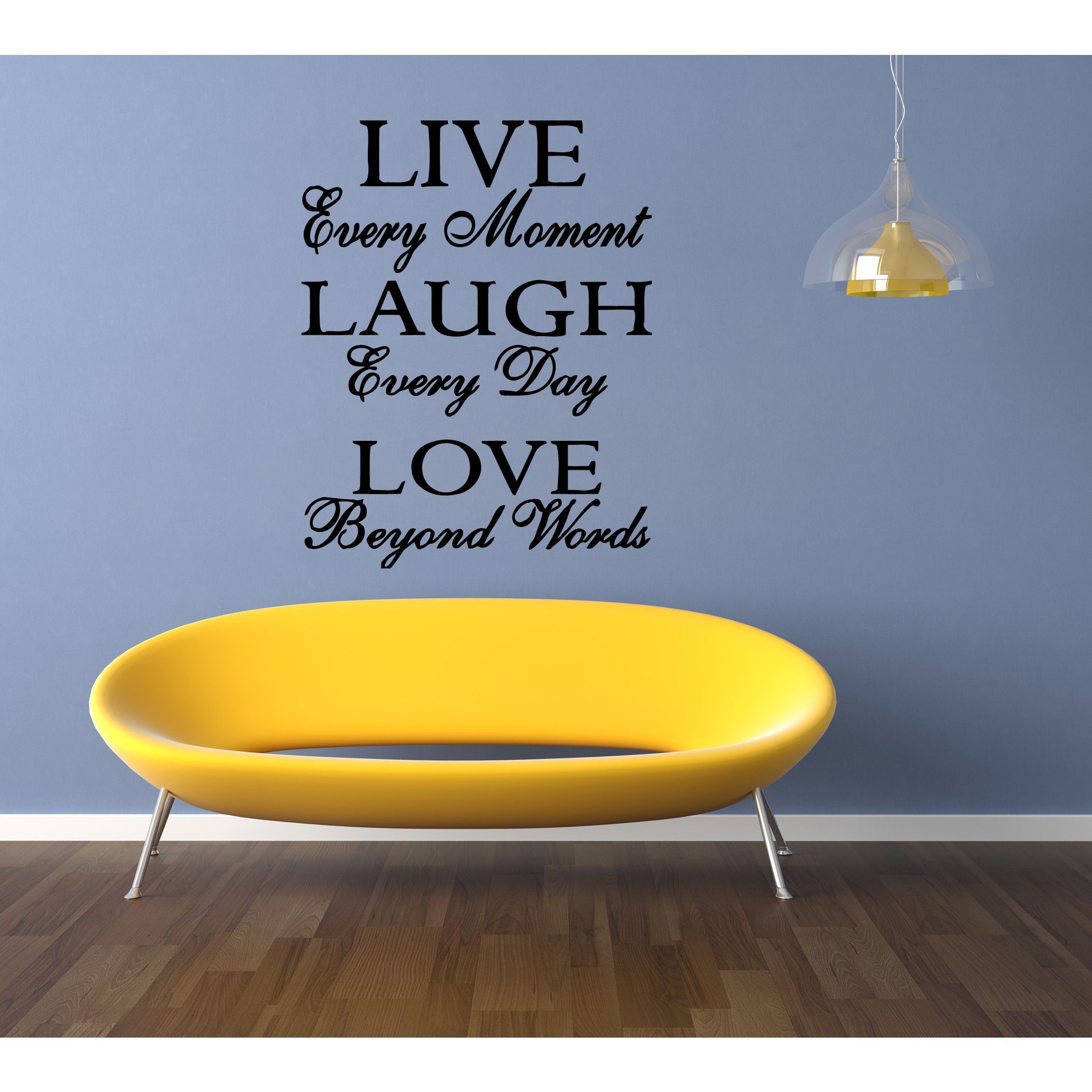 Live Every Moment quote Wall Art Sticker Decal | Products ...