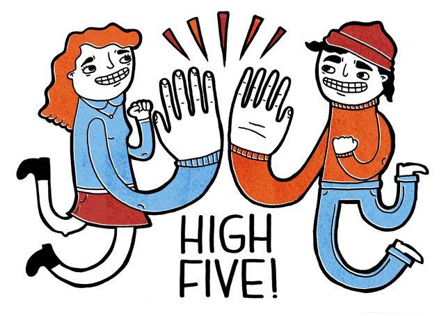 High five greeting card loryn engelsman illustration loryn high five greeting card loryn engelsman illustration m4hsunfo