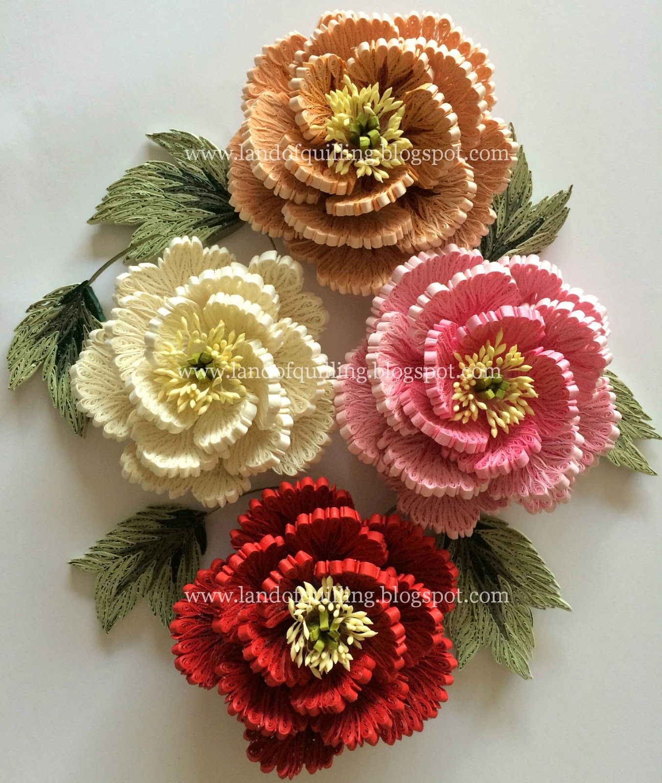 Quilled Peonies The Art Of Quilling Ideas For Quilling