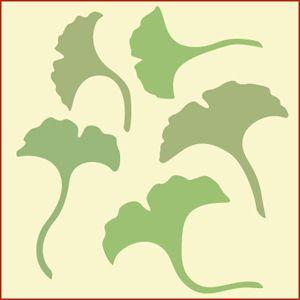 stencil floor   Botanical-Trees-Ginko, leaf stencil